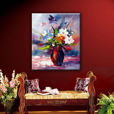 YHHP Hand Painted Bonsai flowers Decoration Canvas Oil Painting