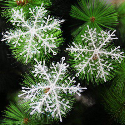 Buy WHITE XM1 12PCS Christmas Decoration White Snowflake Ornaments 6CM for $1.07 in GearBest store