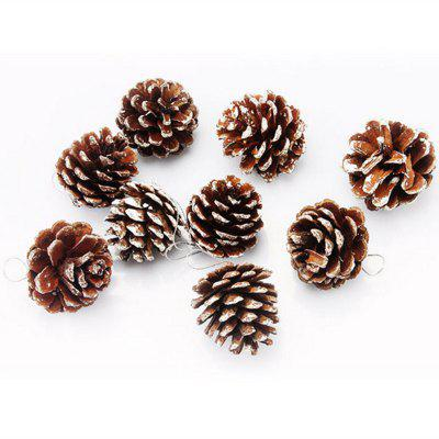 XM1 9PCS Décoration d'arbres de Noël Cône de Pin Naturel 5CM