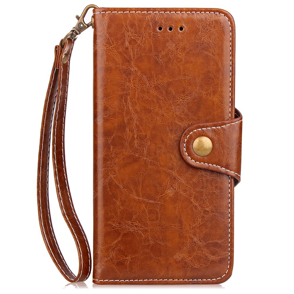 Wkae Retro Business Leather Case Cover with Card Slots e Kickstand para Samsung Galaxy Note 8