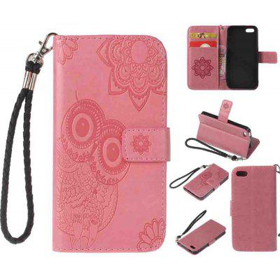 Fashion PU Leather Magnet Wallet Flip Case Cover with Built-In Card Slots for iPhone 5 / 5S / SE