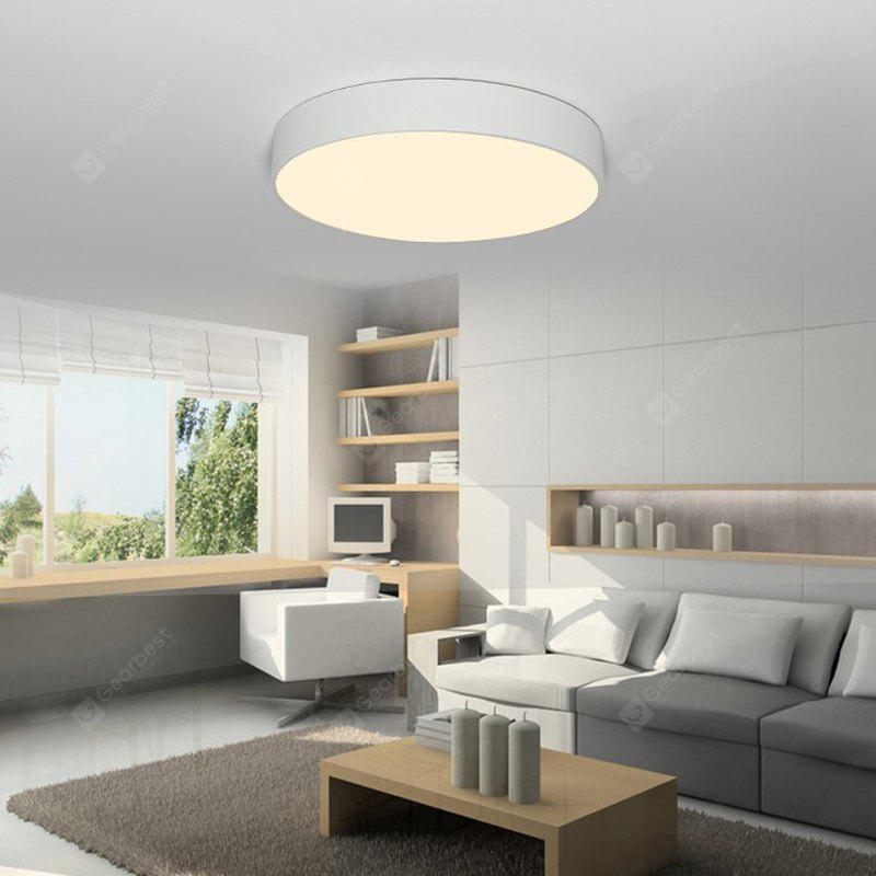 Everflower Modern Simple Led Flush Mount Ceiling Light with Max 18W Painted Finish White