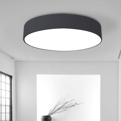 everflower modern simple led flush mount ceiling light with max 18w painted finish black