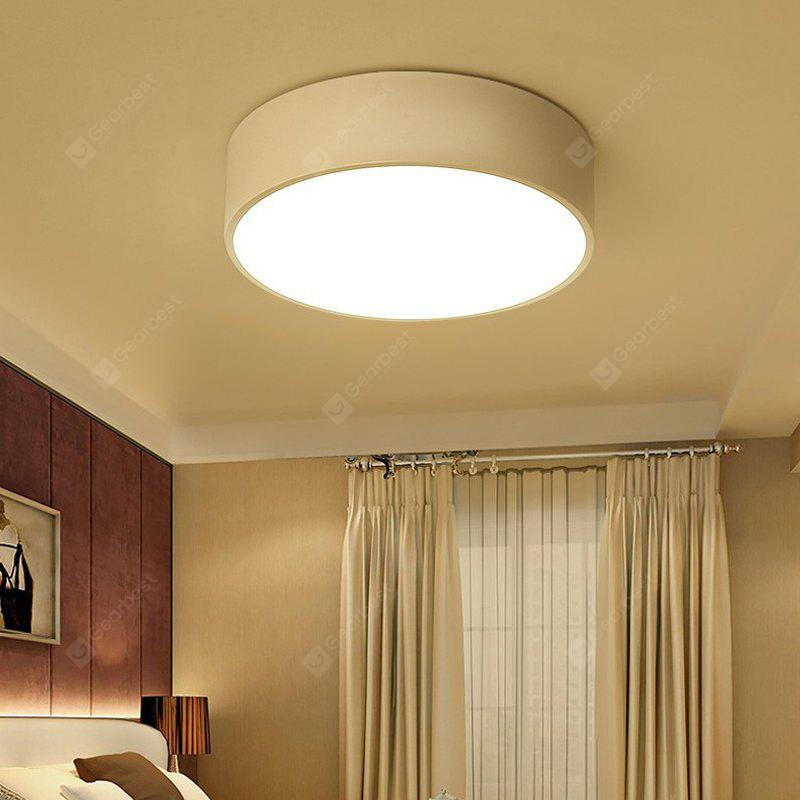 Everflower Modern Simple Led Flush Mount Ceiling Light with Max 12W Painted Finish White