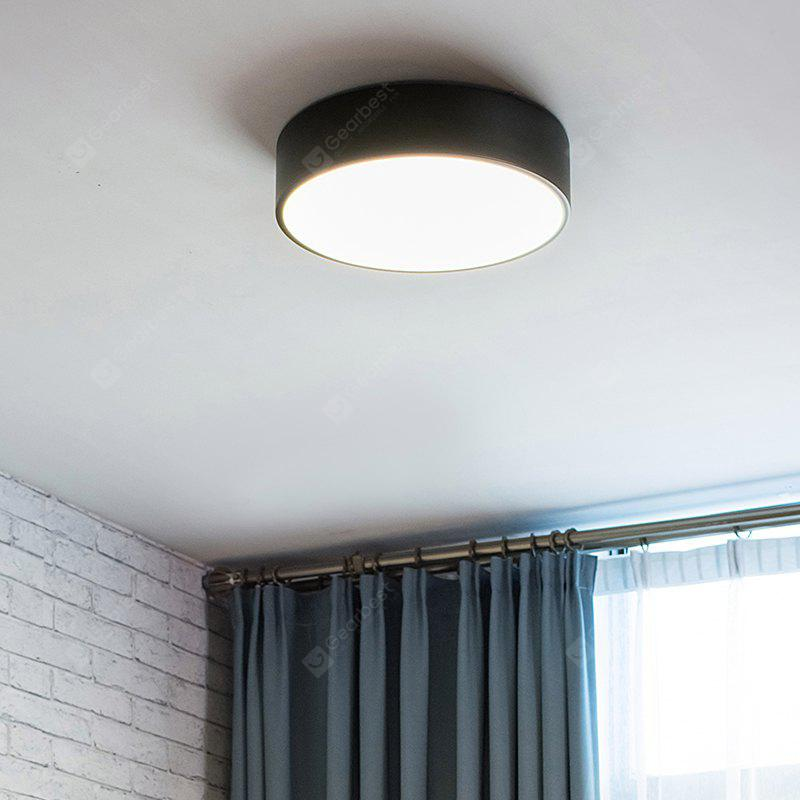 Everflower modern simple led flush mount ceiling light with max 12w painted finish black