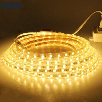 Buy WARM WHITE LIGHT 1PCS 3M 220V 5050 180SMD 1350LM 15W Flexible Tape Rope Strip Light Xmas Outdoor Waterproof Garden Outdoor Lighting Christmas Band Eu Plug for $8.54 in GearBest store