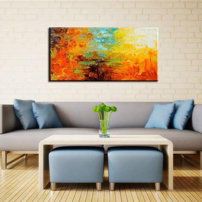 Yhhp Hand Painted Abstract Colour Profusion Decoration Canvas Oil Painting