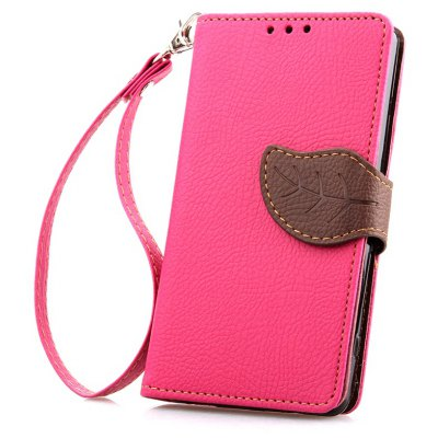 Love Leaf Card Lanyard Pu Leather para Sony Z1
