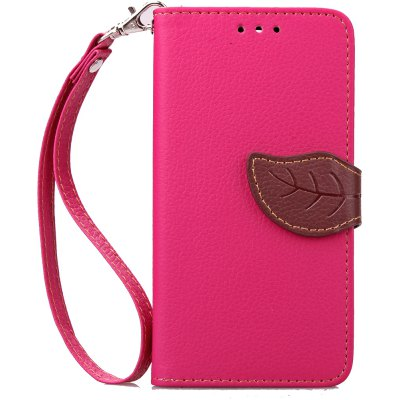 Love Leaf Card Lanyard Pu Leather para Alcatel Pixi3-4.5