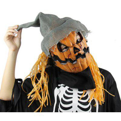 Yeduo Halloween Mask Pumpkin Scarecrow Creepy Latex Realistic Crazy Rubber Super Creepy Party Halloween Costume Mask