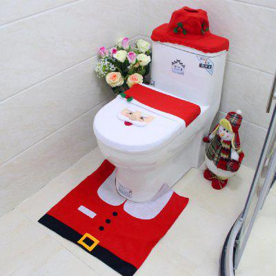Yeduo New Year Best Gift Happy Christmas Santa Toilet Seat Cover Rug