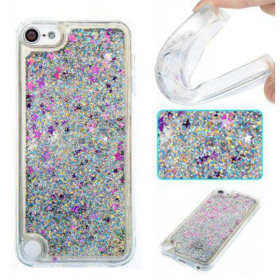 Silver Sand Purple Five-Pointed Star All Soft Tpu Quicksand Phone Case for Ipod Touch5/6