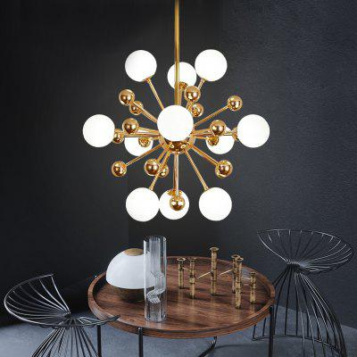 ZUOGE DJBCY041 Modern Creative Beanstalk Metal Ball 11 Head Chandelier