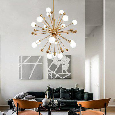 ZUOGE Modern Creative Beanstalk Metal Ball 18 Head Chandelier