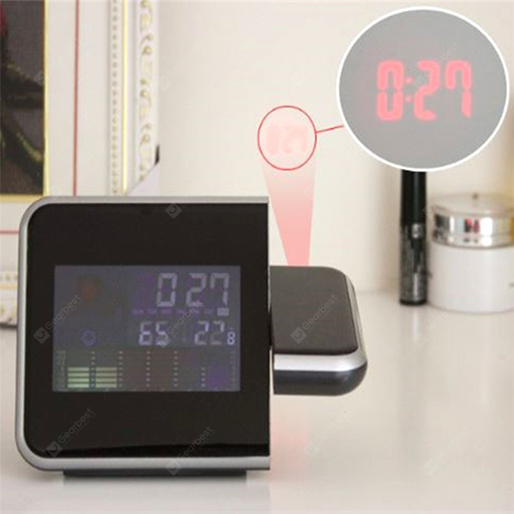 Household Projection Alarm Clock Thermometer Hygrometer