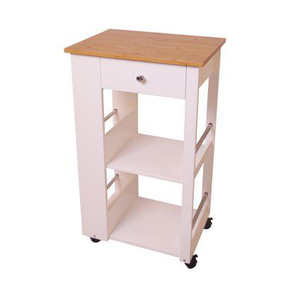 Happyhome Kuechenwagen Mit Bamboo Platte Weiss Schubladen 50 X 36 X 86CM Support Local Delivery After-sales ServiceHome Furniture<br>Happyhome Kuechenwagen Mit Bamboo Platte Weiss Schubladen 50 X 36 X 86CM Support Local Delivery After-sales Service<br><br>Applicable for: Others<br>Applicable People: Universal<br>Assembled: No<br>Brand: HappyHome<br>Features: Health environmental, Solid durable, Partition design, Multi purpose, Large storage space, Big capacity<br>Furniture Style: Simple<br>Furniture type: Kitchen furniture,Living room furniture<br>Layers: 2 layers<br>Load-bearing (Max.): 30 Kg<br>Package Contents: 1 X K?Chenwagen, 1 X Schrauben-set, 1 X Montageanleitung<br>Package size (L x W x H): 87.00 x 50.00 x 7.00 cm / 34.25 x 19.69 x 2.76 inches<br>Package weight: 13.0000 kg<br>Packing method: Cartons<br>Product size (L x W x H): 50.00 x 36.00 x 86.00 cm / 19.69 x 14.17 x 33.86 inches<br>Product Type: Side cabinet<br>Product weight: 12.0000 kg<br>Scalable: No<br>With cabinet: No<br>With guardrail: No<br>With Lock: No