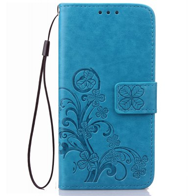 Lucky Clover Holster Leaf Card Lanyard Pu Leather para Huawei Y625