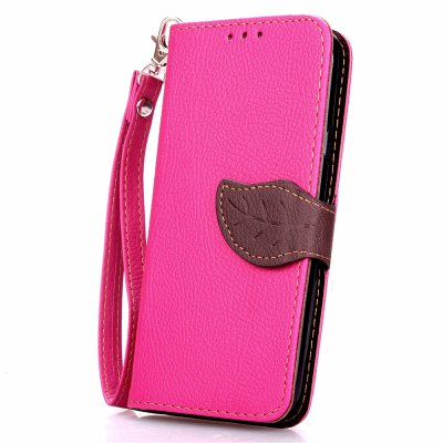 Love Leaf Card Lanyard Pu Leather para Asus Zenfone 2 5.5INCH
