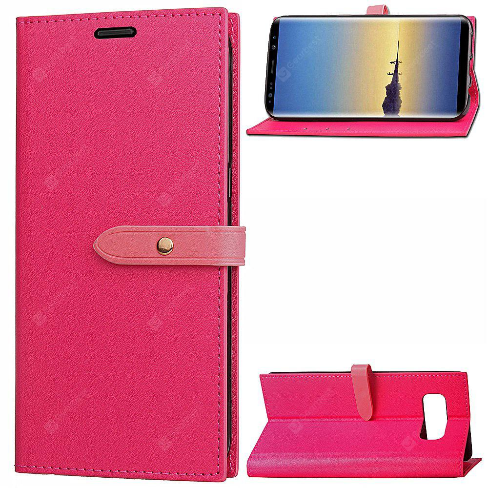 Wkae Fine Buckle Business Leather Case Cover with Rotary Insert Card Slots And Kickstand for Samsung Galaxy Note 8