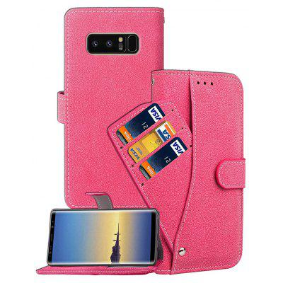 Wkae Nubuck Leather Case Cover with Rotary Insert Card Slots And  Kickstand for Samsung Galaxy Note 8