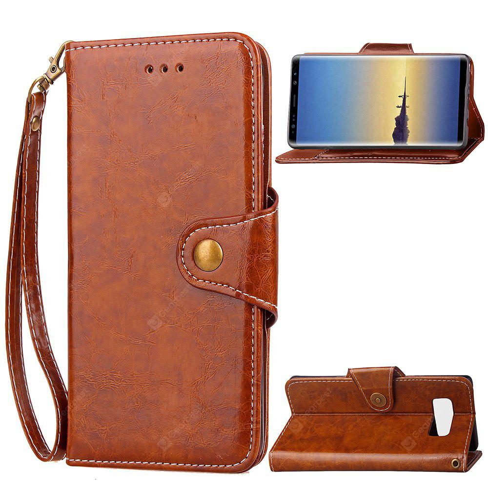 Wkae Samsung Galaxy Note 8 Retro Business Leather Case Cover with Insert Card Slots And Kickstand for Samsung Galaxy Note 8