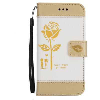 Wkae Mixed Colors Rose Flower Frosted Premium Pu Leather Wallet Stand case Cover with Card Slots for iPhone 6 6S