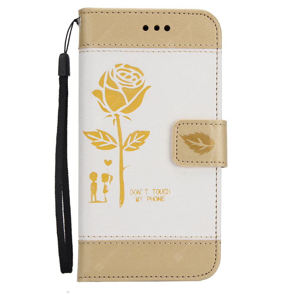 Wkae Mixed Colors Rose Flower Frosted Premium Pu Leather Wallet Stand case Cover with Card Slots for iPhone 6 Plus 6S Plus