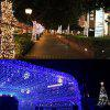 Dengzhan Ac220v 10M 100LED Waterproof String Light with 8 Flashing Modes for Christmas Holiday Fairy Wedding Party Indoor Outdoor Decoration Lighting Eu - WARM WHITE LIGHT