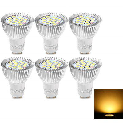 Buy WARM WHITE LIGHT Youoklight 6PCS Gu10 7.5W Led Spotlight Bulb Warm White / Cool White 15-SMD for $21.82 in GearBest store