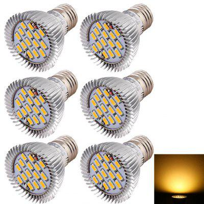 Buy WARM WHITE LIGHT Youoklight 6PCS E27 7.5W Spot Light Bulb Warm White / Cool White 15-SMD Led for $22.07 in GearBest store