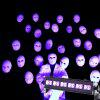 U King 6PCS Led UV Black Wall Wash Light for Stage Effect Lighting 18W Auto - BLACK
