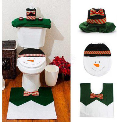 Yeduo 1 Sets Happy Snowman Christmas Bathroom Set Toilet Seat ...