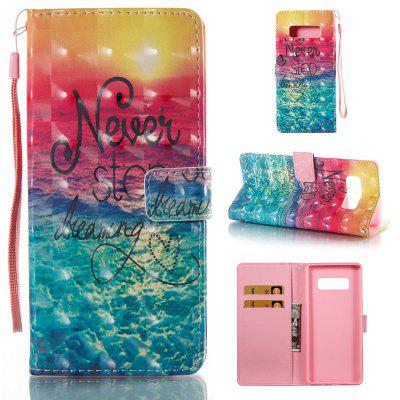 Dreams 3D Painted Pu Phone Case for Samsung Galaxy Note 8