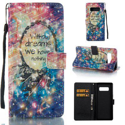 Star Sky 3D Painted Pu Phone Case for Samsung Galaxy Note 8