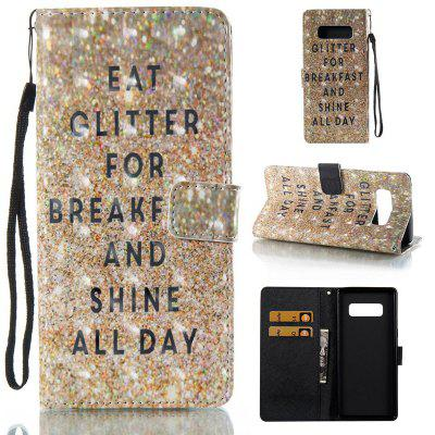 Sparkling Breakfast 3D Painted Pu Phone Case for Samsung Galaxy Note 8