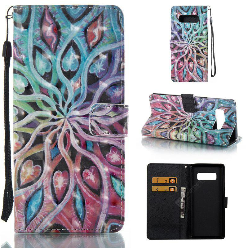 Spread Flowers 3D Painted Pu Phone Case for Samsung Galaxy Note 8