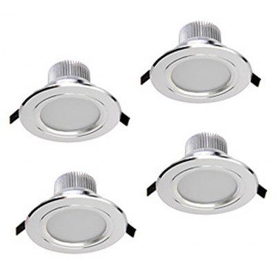 Zdm 4pcs 5W 400-450LM Dimmable Led Downlights Warm White/Cool White/Natural White Ac110v/Ac220v