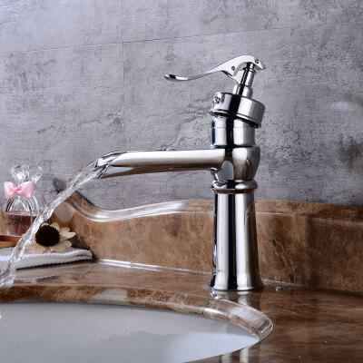 Buy SILVER Oil Rubbed Bronze Bathroom Vessel Faucet Waterfall Basin Mixer Tap Tall Body for $61.56 in GearBest store