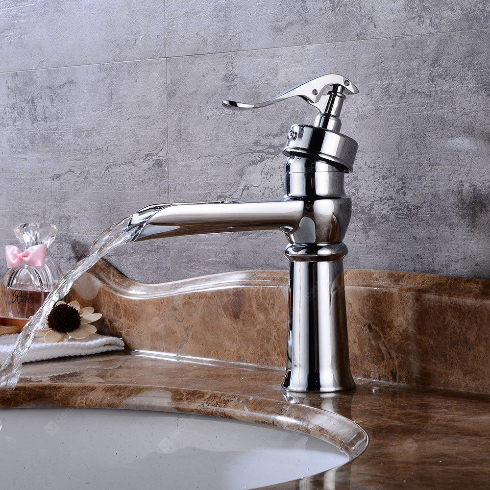 SILVER Oil Rubbed Bronze Bathroom Vessel Faucet Waterfall Basin Mixer Tap Tall Body
