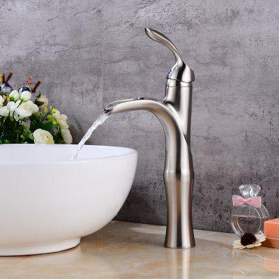 Buy BRUSHED SILVER Bathroom Faucet Waterfall Basin Mixer Tap Brushed Nickel for $94.52 in GearBest store