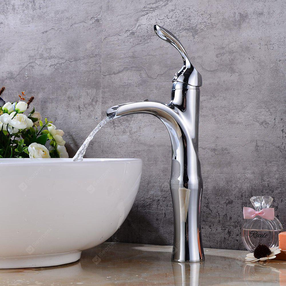 SILVER Square Waterfall Bathroom Sink Basin Mixer Tap Faucet Chrome Plated