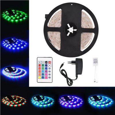 Buy Supli 5M Waterproof Flexible Strip Smd 3528 Rgb 300LEDS with 44KEY Ir Remote Controller And 12V 3A Power Supply RGB COLOR for $10.99 in GearBest store
