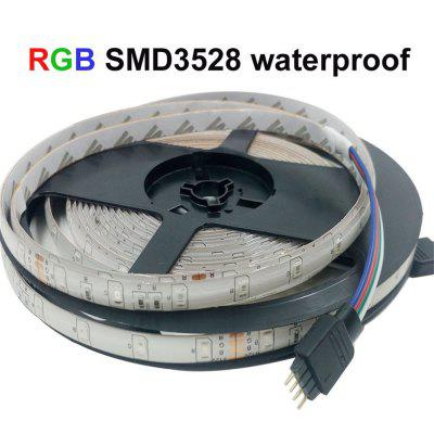 Supli 5M Waterproof Flexible Strip Smd 3528 Rgb 300LEDS with 44KEY Ir Remote Controller And 12V 3A Power Supply zdm 5m 300 leds strip light with remote control