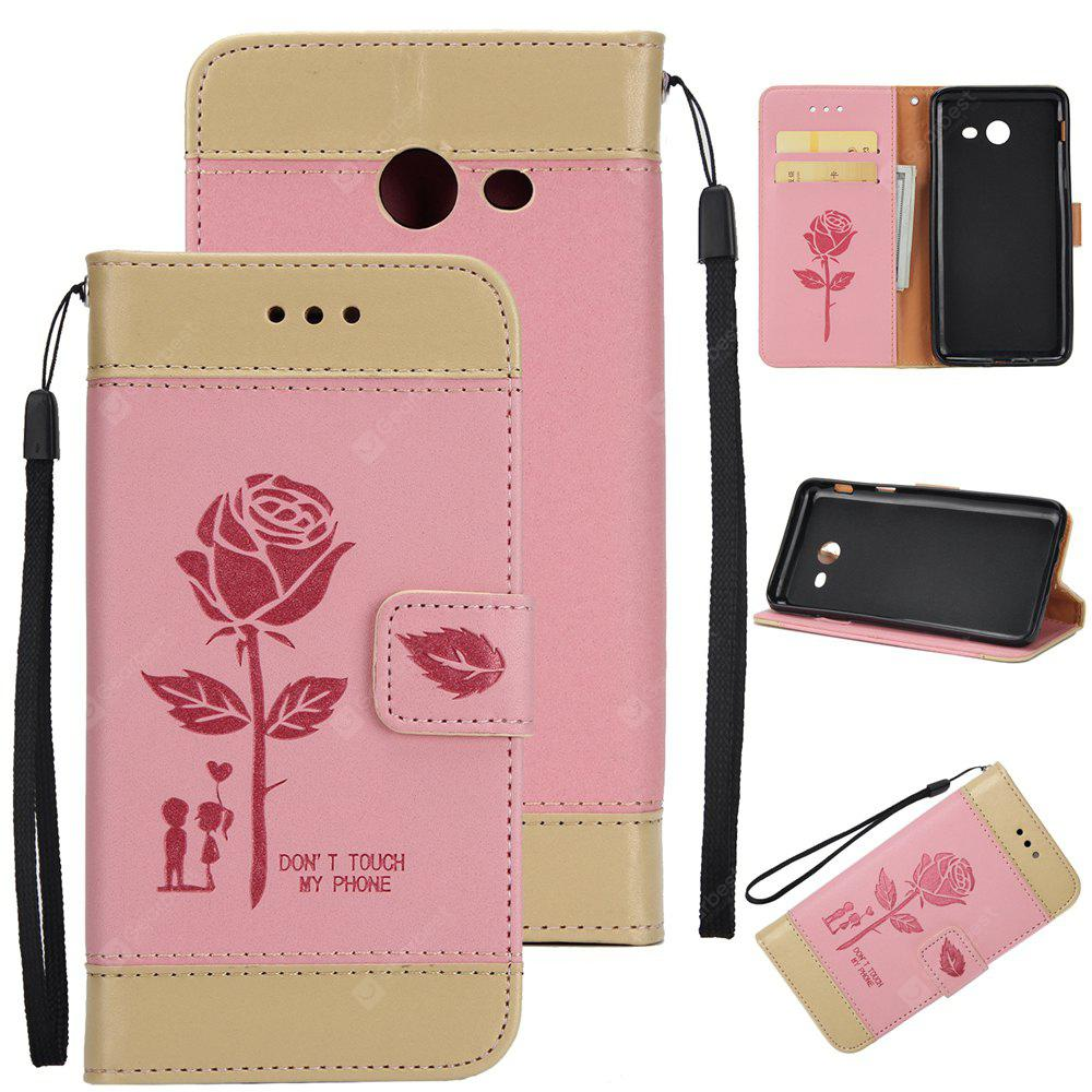 Wkae Mixed Colors Rose Flower Frosted Premium Leather Wallet Stand Case Cover with Lanyard Card Slots Samsung Galaxy J3 2017