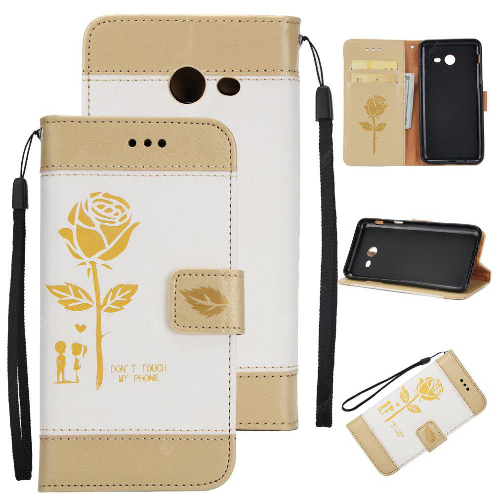 Wkae Mixed Colors Rose Flower Frosted Premium Leather Wallet Stand Case Cover with Lanyard Card Slots Samsung Galaxy J5 2017