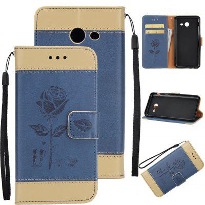 Buy Wkae Mixed Colors Rose Flower Frosted Premium Leather Wallet Stand Case Cover with Lanyard Card Slots Samsung Galaxy J7 2017 GOLDEN+ICE BLUE for $3.85 in GearBest store