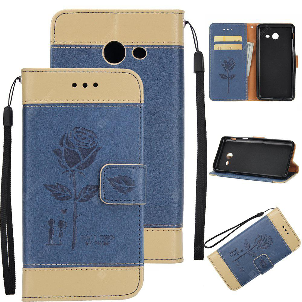 Wkae Mixed Colors Rose Flower Frosted Premium Leather Wallet Stand Case Cover with Lanyard Card Slots Samsung Galaxy J7 2017