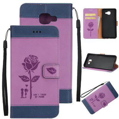 Buy Wkae Mixed Colors Rose Flower Frosted Premium Leather Wallet Stand Case Cover with Lanyard Card Slots Samsung Galaxy J7 Prime, BLUE + PURPLE, Mobile Phones, Cell Phone Accessories, Samsung Accessories, Samsung J Series for $3.85 in GearBest store