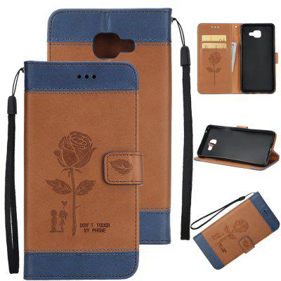 Buy Wkae Mixed Colors Rose Flower Frosted Premium Leather Wallet Stand Case Cover with Lanyard Card Slots Samsung Galaxy J7 Prime, BROWN + BLUE, Mobile Phones, Cell Phone Accessories, Samsung Accessories, Samsung J Series for $3.85 in GearBest store