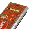 Woven Pattern Flip Front Buckle Pu Leather Wallet Case for Kyocera Digno V (KYV42) - BROWN